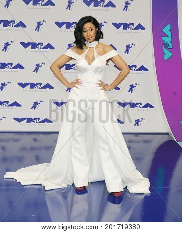 Cardi B at the 2017 MTV Video Music Awards held at the Forum in Inglewood, USA on August 27, 2017.
