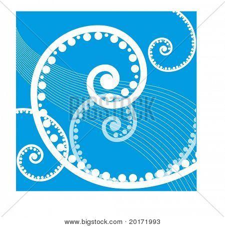 summer coil series blue vector