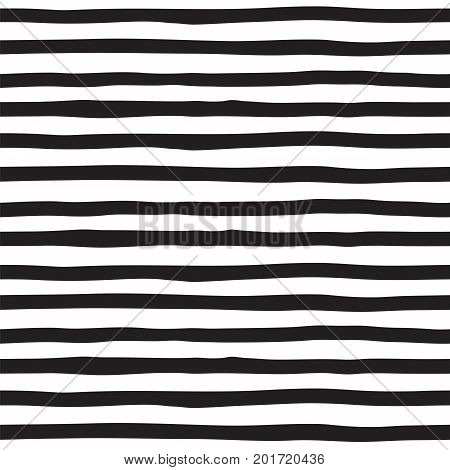 Black and white striped seamless pattern . Vector backround . Vintage texture .