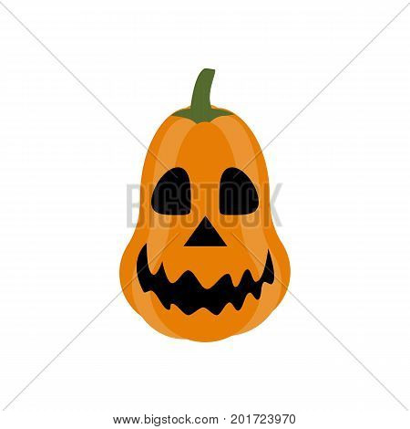 Jack-o-lantern pumpkin on the white background. Vector illustration