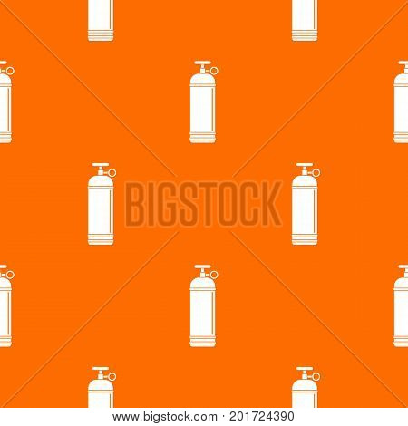 Compressed gas container pattern repeat seamless in orange color for any design. Vector geometric illustration
