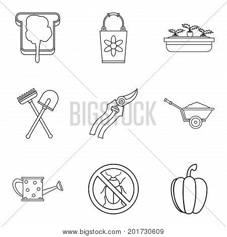 Sandwich icons set. Outline set of 9 sandwich vector icons for web isolated on white background
