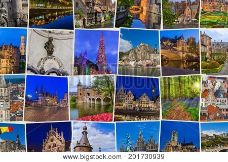 Belgium travel images - nature and architecture background (my photos)