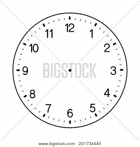blank hand watch face vector on white background