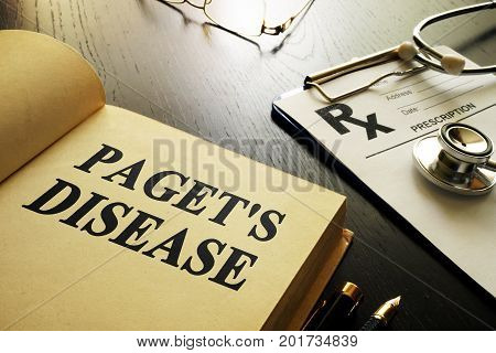 Book about Paget's disease on a desk.