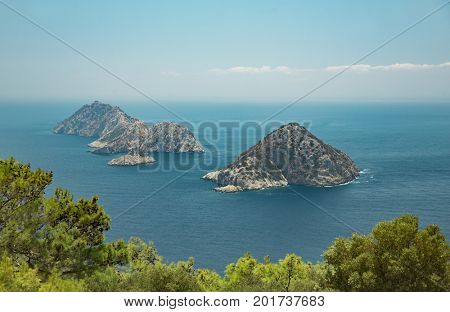 View from Gelidonia Lighthouse west of Antalya between the Adrasan and Karaoz
