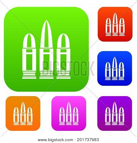 Cartridges set icon in different colors isolated vector illustration. Premium collection