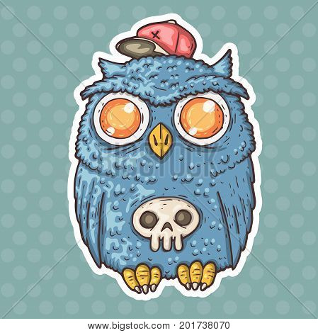 cartoon owl. vector illustration for web and print.