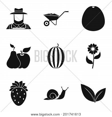Caring for crop icons set. Simple set of 9 caring for crop vector icons for web isolated on white background