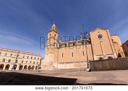 The square of Cathedral of Saint Justin Chieti