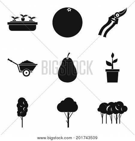 Plant transplantation icons set. Simple set of 9 plant transplantation vector icons for web isolated on white background