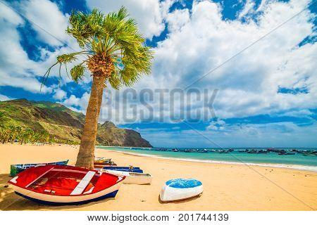 Las teresitas beach in Tenerife Canary Islands Spain
