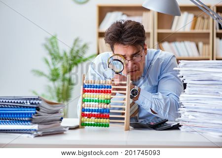 Mad auditor looking for errors in the report