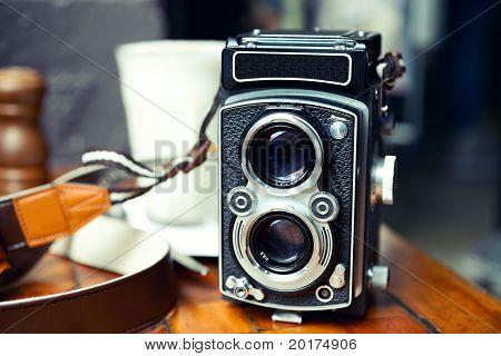 Old School TLR Camera
