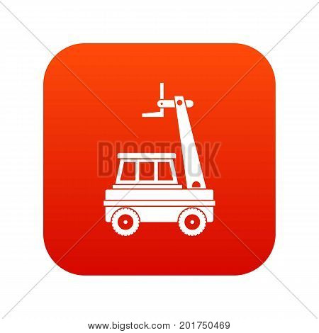 Cherry picker icon digital red for any design isolated on white vector illustration