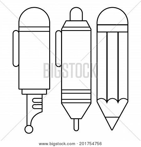 Stationery icon. Outline illustration of stationery vector icon for web