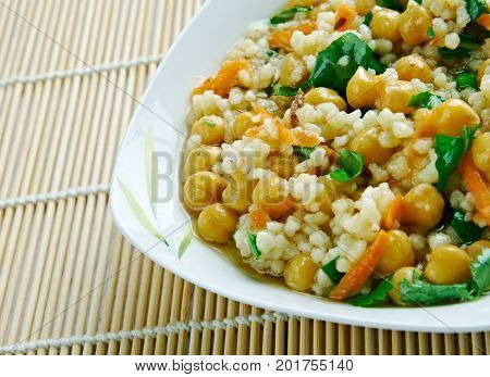 Curried Couscous Salad close up healthy meal