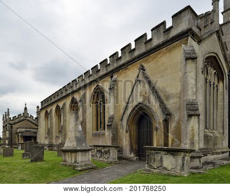 St. Andrews Church  Table Tombs Chippenham Wiltshire