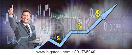Online stock trading man