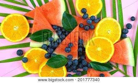 Mixed Tropical Fruit Overhead