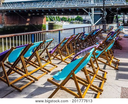 Deckchairs In London (hdr)