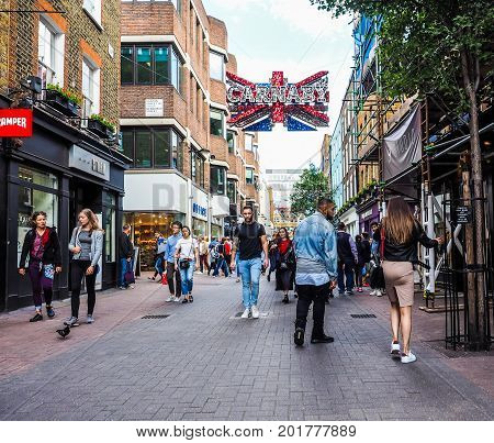 Carnaby Street In London (hdr)