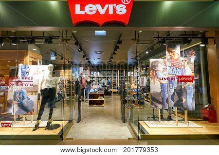 SAINT PETERSBURG, RUSSIA - CIRCA AUGUST, 2017: Levi's store at Galeria shopping center.