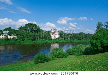 River In The Old Town Vologda