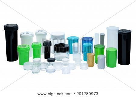 Various pharmaceutical containers arranged in a family setting.