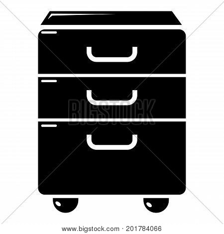 Office closet icon. Simple illustration of office closet vector icon for web