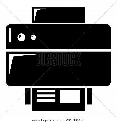 Printer icon. Simple illustration of printer vector icon for web