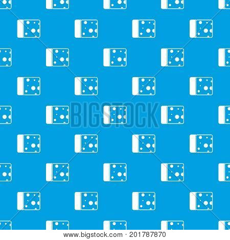 Cheese pattern repeat seamless in blue color for any design. Vector geometric illustration
