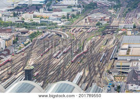 Germany Frankfurt am main railroad train station