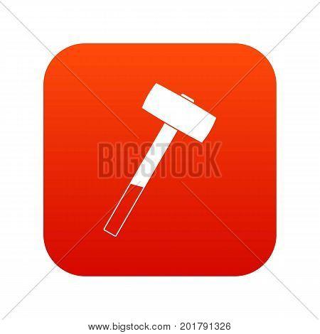 Sledgehammer icon digital red for any design isolated on white vector illustration