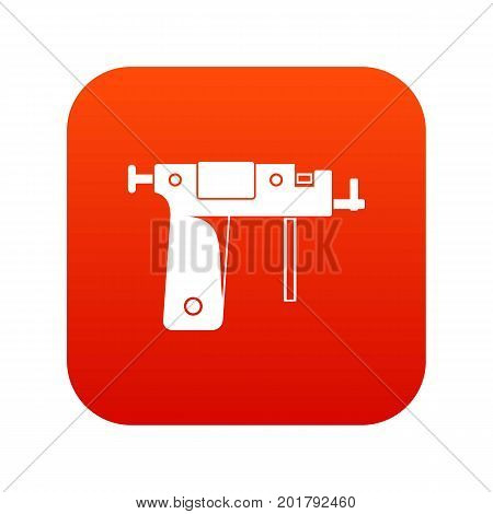 Piercing gun icon digital red for any design isolated on white vector illustration