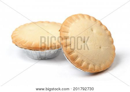 Small cakes isolated on white background
