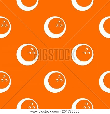 Marbled bowling ball pattern repeat seamless in orange color for any design. Vector geometric illustration