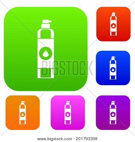 Air freshener set icon in different colors isolated vector illustration. Premium collection