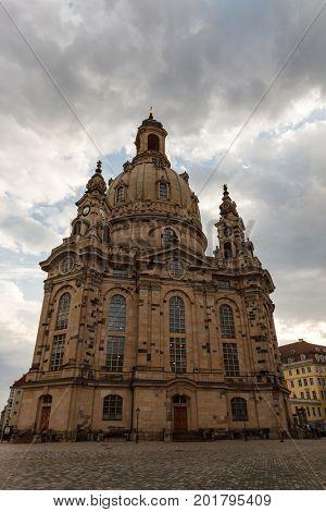 DRESDEN, GERMANY - June, 2016: Dresden - Frauenkirche, Germany