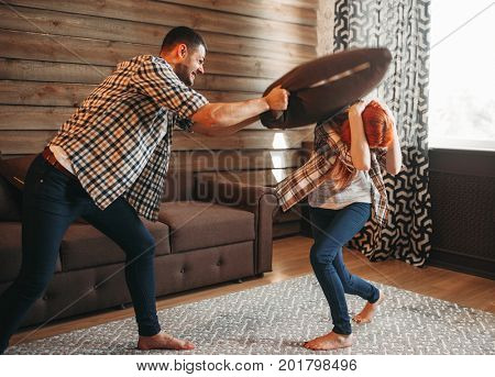 Young couple in conflict, man and woman fight