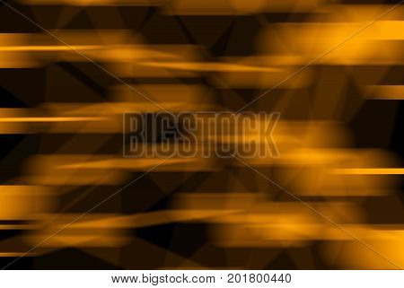 Orange Motion Blurred Molecular Geometric Chaos Abstract Structure. Science Technology Network Conne
