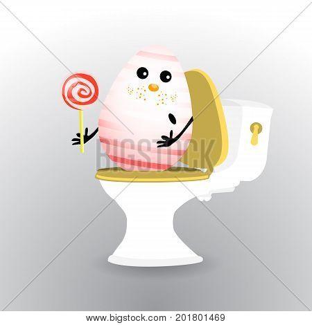 Diarrhea And Abdominal Pain Concept. Diarrhea