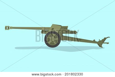 german anti tank ww2 with flat style and green color vector