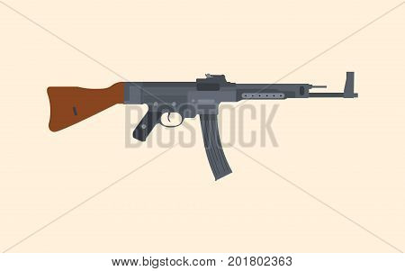 a german riffle machine gun popular in ww2 vector graphic