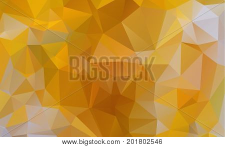 Light Orange vector Low poly crystal background. Polygon design pattern. Low poly illustration low polygon background.