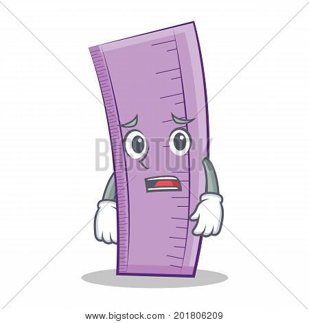Afraid ruler character cartoon design vector illustration