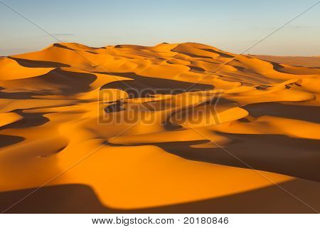 Sand Dunes - Murzuq Desert, Sahara, Libya