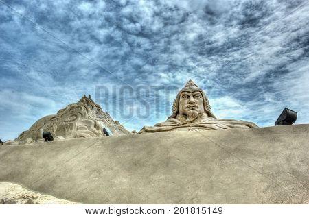 Xiamen Guanyinshan Sand Sculpture Cultural Park In China