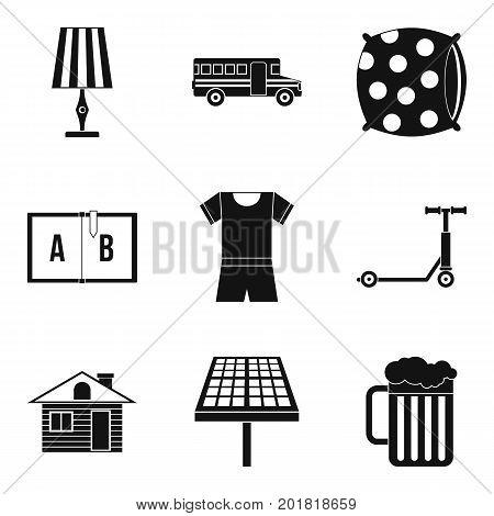 Sleep icons set. Simple set of 9 sleep vector icons for web isolated on white background