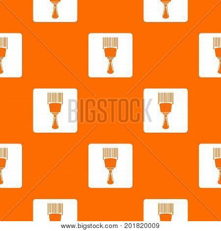 Bar code scanner pattern repeat seamless in orange color for any design. Vector geometric illustration